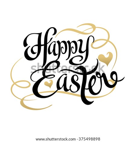 EASTER. Happy Easter. Easter Sunday. Easter Day. Easter Background. Easter Card. Easter Holiday. Easter Vector. Happy Easter Sunday. Easter Art. Hand Lettering. Text. Dark. Black. Vector Art