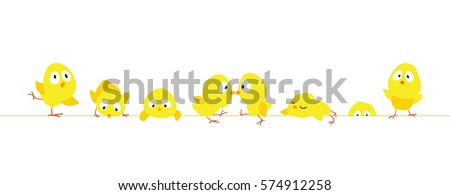 easter horizontal border with