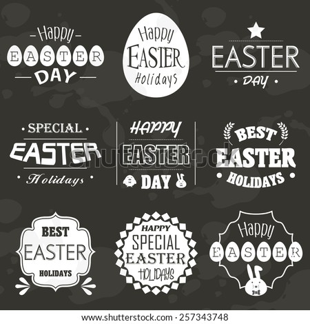 Easter icon logo vector