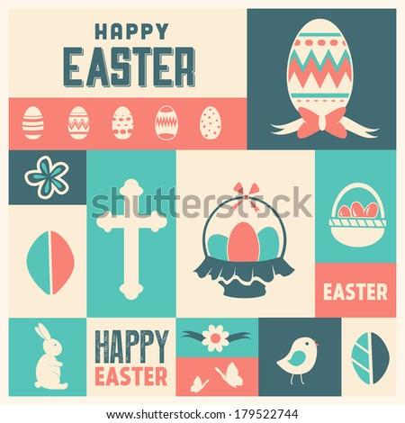Easter Icon Set