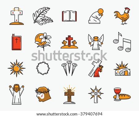 Religious Easter Vector Set Download Free Vector Art Stock