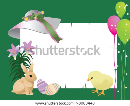 Easter Invitation Background EPS 8 vector, grouped for easy editing. No open shapes or paths.