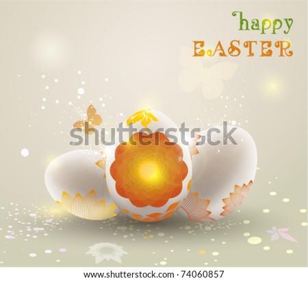 Easter light Background.