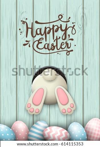 easter motive  white bunny