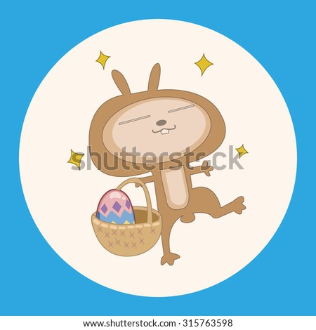 easter rabbit theme element vector,eps