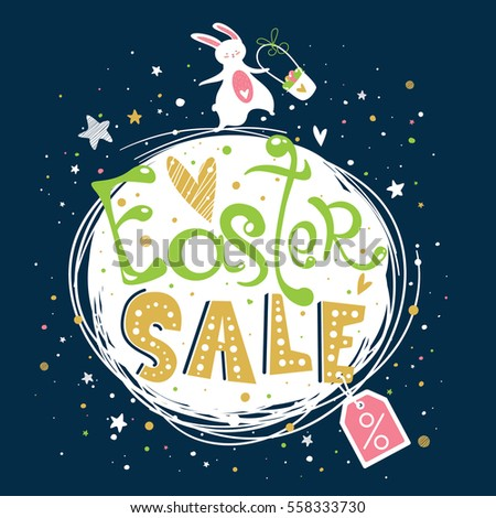 easter sale banner or print