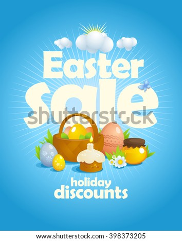 easter sale design with rays of