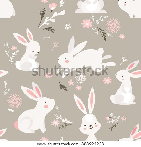 easter seamless pattern design