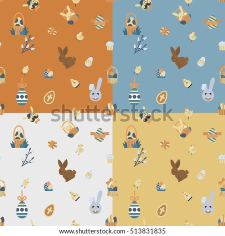 easter seamless pattern four