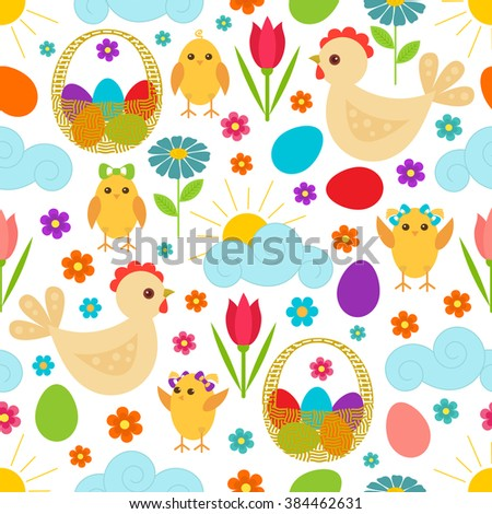 easter seamless pattern with