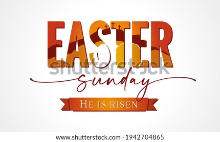 easter sunday lettering with