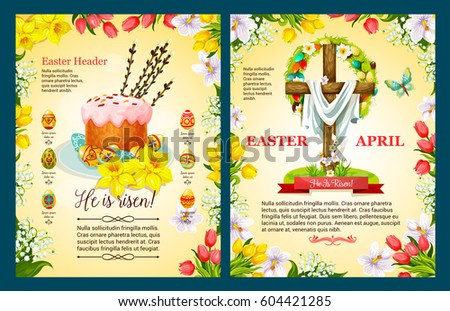 easter sunday poster template