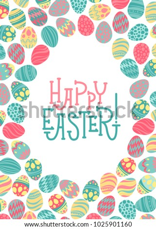 Easter Vector Background and holiday eggs. Perfect for spring and Easter greeting cards