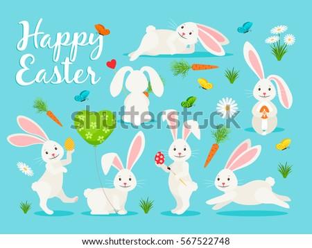 eastern bunny vector