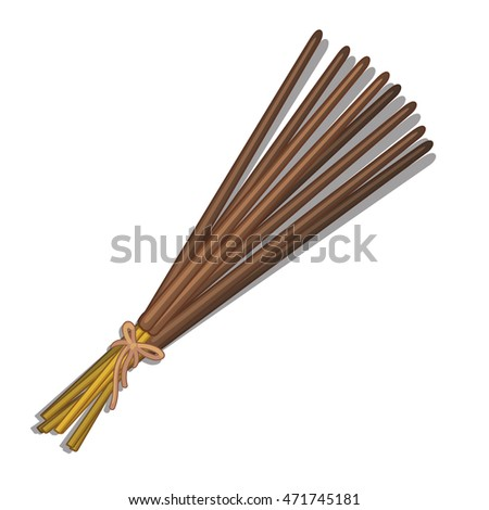 eastern incense sticks isolated