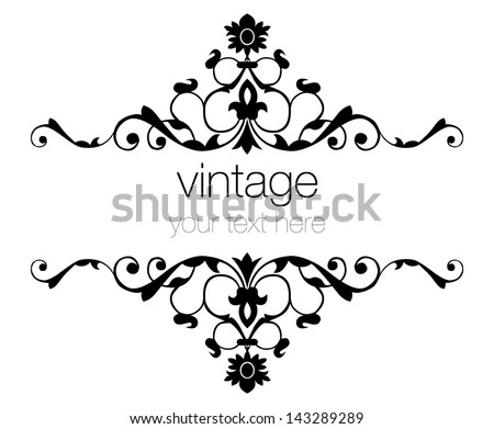 eastern oriental style ornate old frame pattern