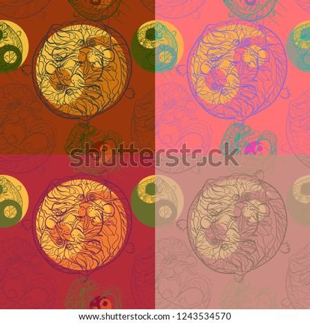 eastern yin yang dragon
