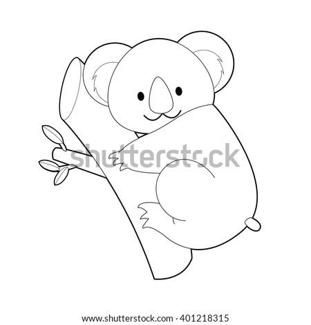 Simple Koala Bear Drawing