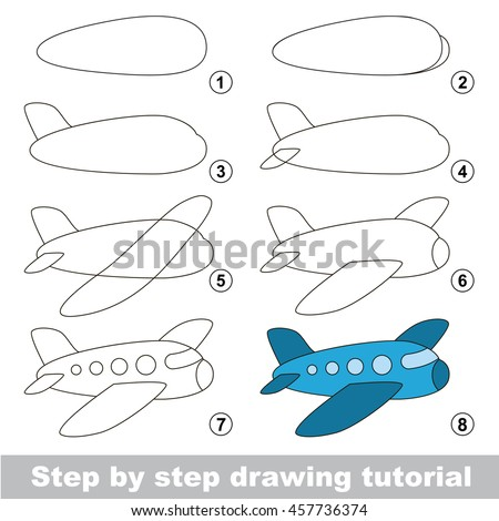 Vector Images Illustrations And Cliparts Easy Educational Kid Game Simple Level Of Difficulty Gaming And Education Drawing Tutorial For Aircraft Hqvectors Com