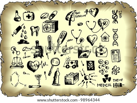 easy hand drawn collection - stock vector