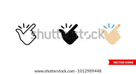 Easy icon of 3 types: color, black and white, outline. Isolated vector sign symbol.