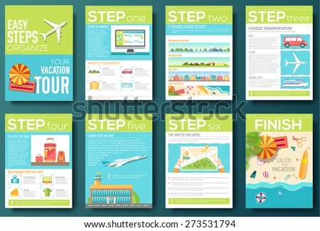 Vacations Brochure Template Vectors  Download Free Vector Art