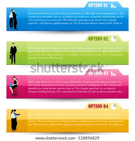easy to edit vector illustration of business template