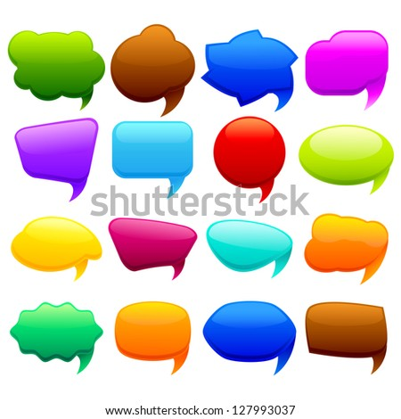 easy to edit vector illustration of colorful chat bubble
