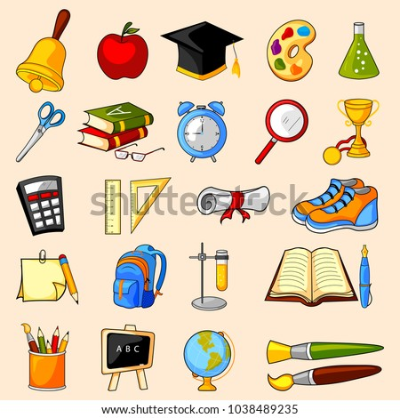 easy to edit vector illustration of education object icon on isolated background