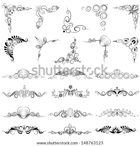 Easy To Edit Vector Illustration Of Floral Calligraphic Design 148763123