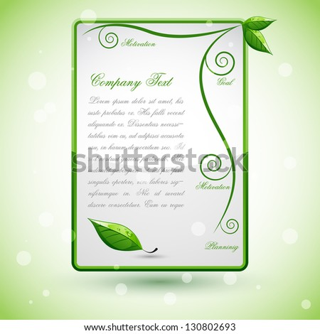easy to edit vector illustration of fresh leaf template