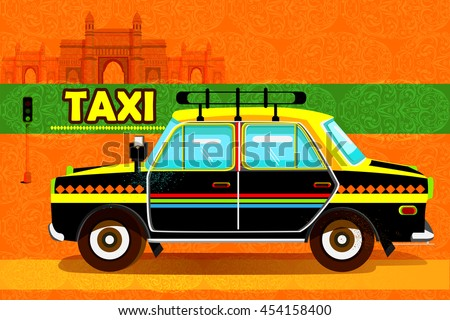 easy to edit vector illustration of Indian Taxi representing colorful India