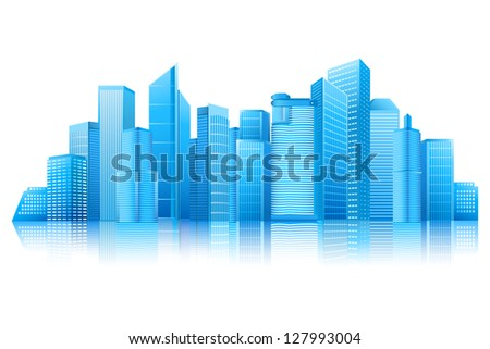 easy to edit vector illustration of modern building