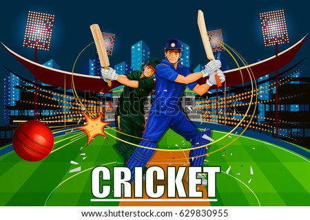Cricket Players Download Free Vector Art Stock Graphics Images