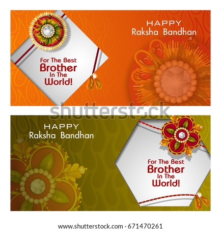 easy to edit vector illustration of Rakhi background for Indian festival Raksha bandhan celebration