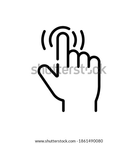 Easy Use Gesture Line Icon Isolated On White Background ストックフォト ©