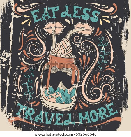 eat less travel more quote