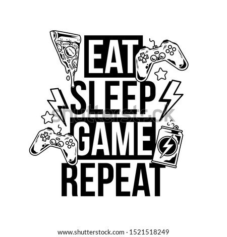 eat sleep game repeat trendy