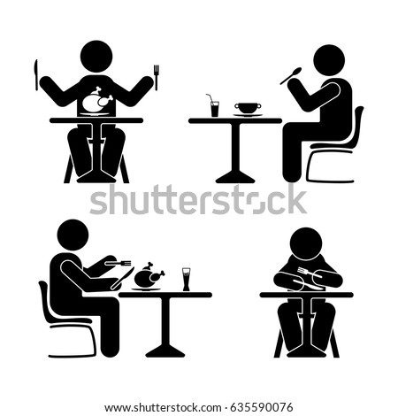 eating and drinking pictogram