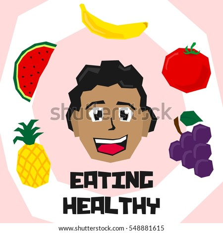 Vector Images Illustrations And Cliparts Eating Healthy For Kid Eating Habit For Kid Poster Hqvectors Com