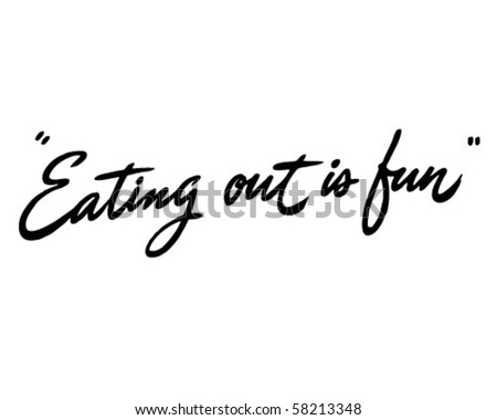Eating Out Is Fun - Ad Header - Retro Clip Art