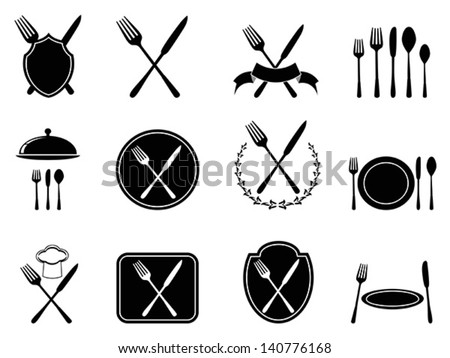 eating utensils icons