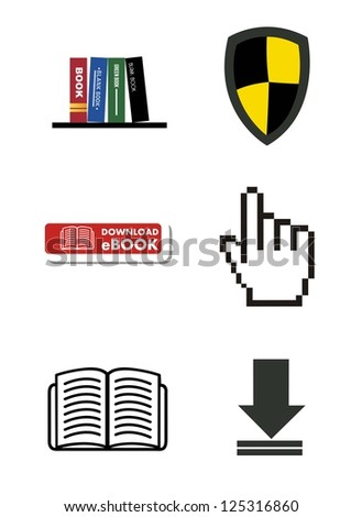 ebook download icons  background. vector illustration