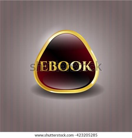 ebook gold emblem or badge