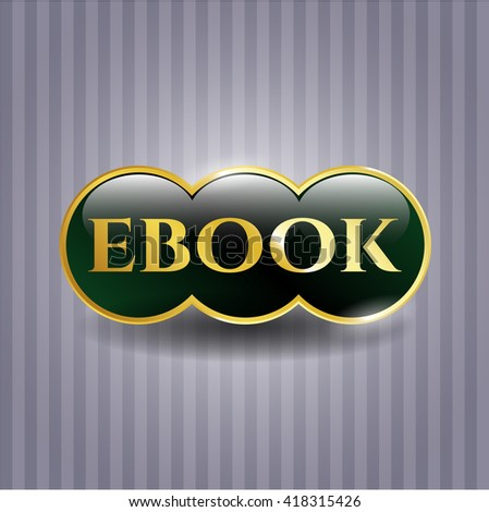 ebook gold shiny emblem