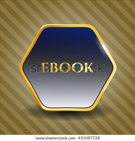 ebook golden badge or emblem