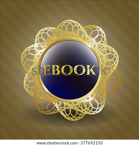 ebook golden emblem or badge