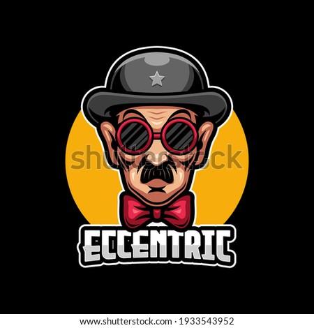 Eccentric Detective E-sports Logo Template Foto stock ©