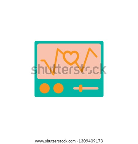 Ecg Machine icon. Element of Web Medical icon for mobile concept and web apps. Detailed Ecg Machine icon can be used for web and mobile