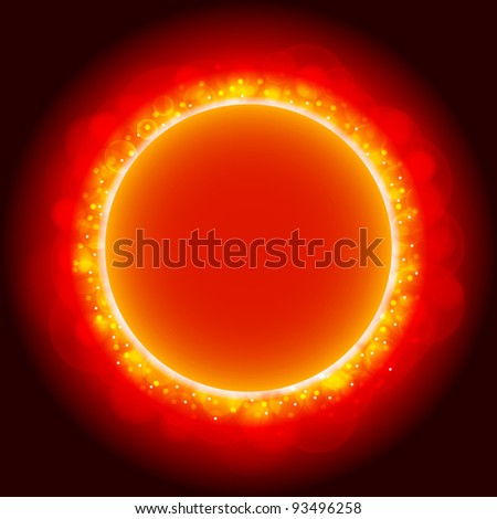 Eclipse background with red light.